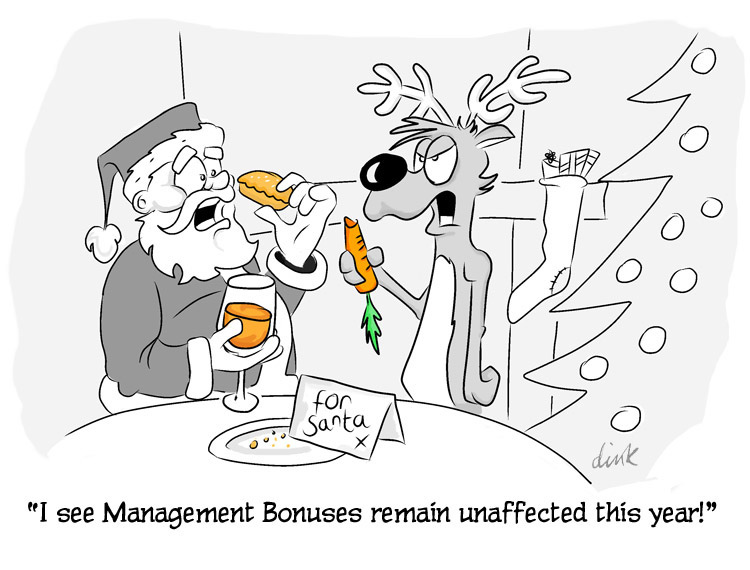I see management bonuses remain unaffected this year