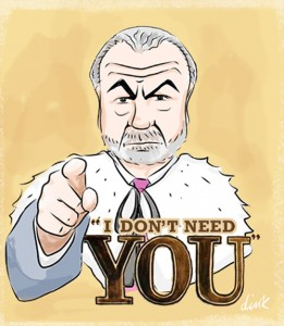 Sir Alan Sugar caricature