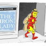 A bit of a disappointment at the cinema for Iron Man - Iron lady Cartoon