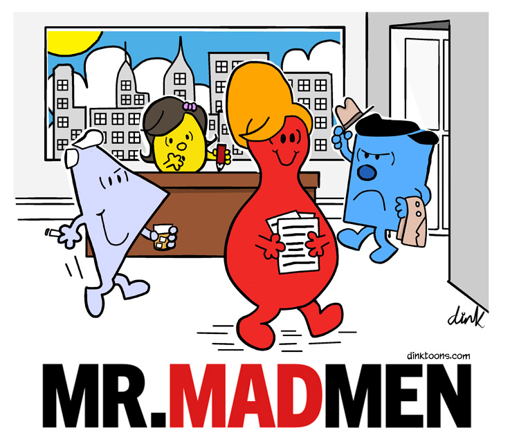Mr Mad Men cartoon