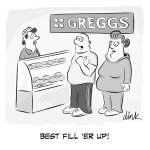 Pasty panic buying cartoon