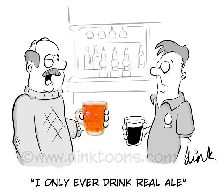 REAL ALE cartoon by freelance cartoonist Chris Woilliams