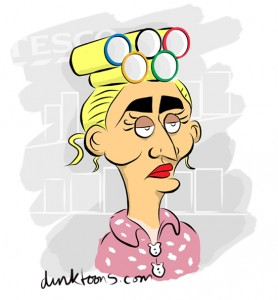 Olympic curling - cartoon by freelance cartoonist Chris Williams