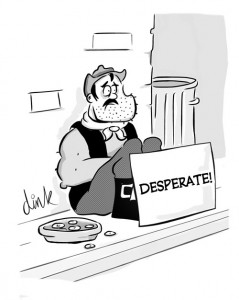 Dan and Out - closure of The Dandy cartoon by freelance cartoonist Chris Williams