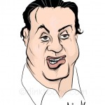 Sylvester Stallone caricature - cartoon by freelance cartoonist Chris Williams