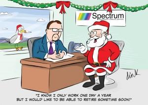 Business cartoon Christmas card by freelance cartoonist Chris Williams