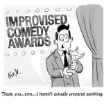 Improvised Comedy Awards cartoon by cartoonist Chris Williams