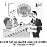 Starbucks Tax cartoon - by freelance cartoonist Chris Williams