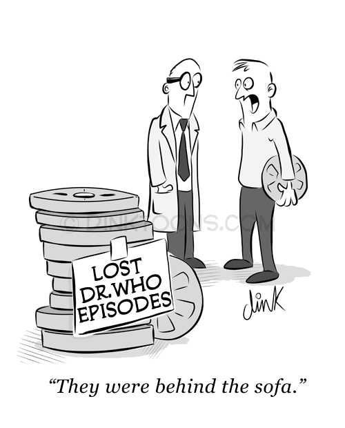 They were behind the sofa - Lost Doctor Who episodes