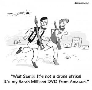 Amazon drone cartoon.