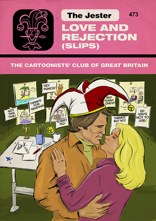 Love and Rejection - Romantic cover for The Cartoonists Club of Great Britain magazine