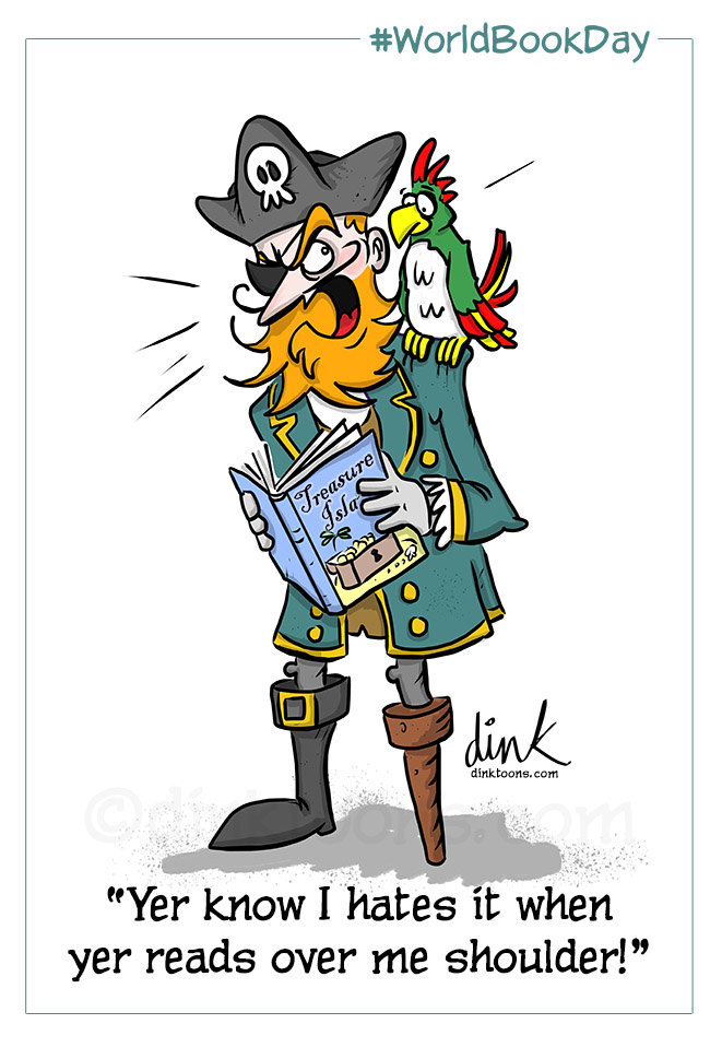 Bookaneer - World Book Day Pirate cartoon
