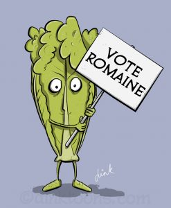 Brexit cartoon - Vote Romaine