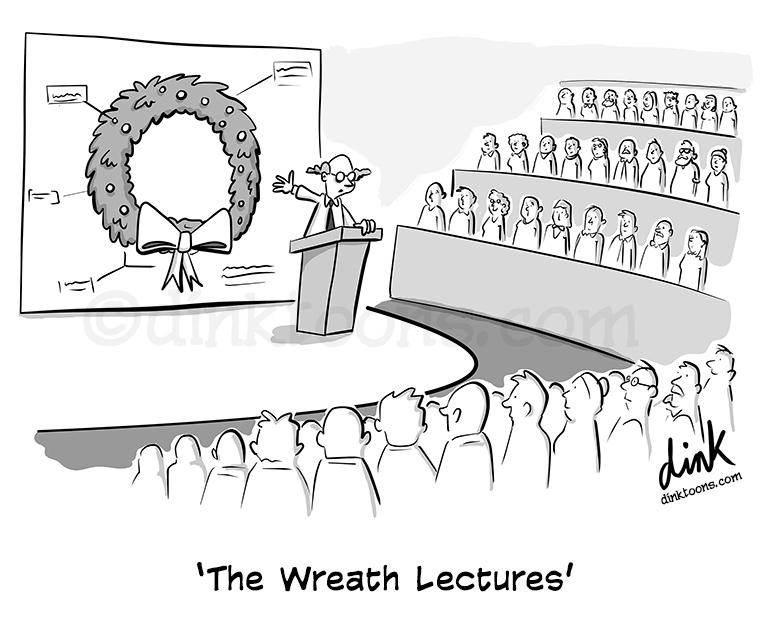 Wreath Reith Lectures- cartoon