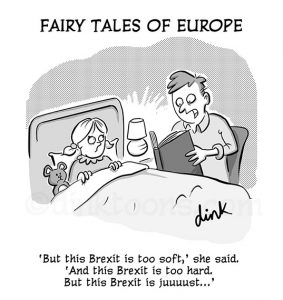 Brexit fairy tale cartoon