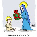 Birthday at Christmas - Jesus- cartoon