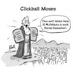 clickbait Moses cartoon