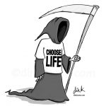 Grim Reaper George Michael cartoon