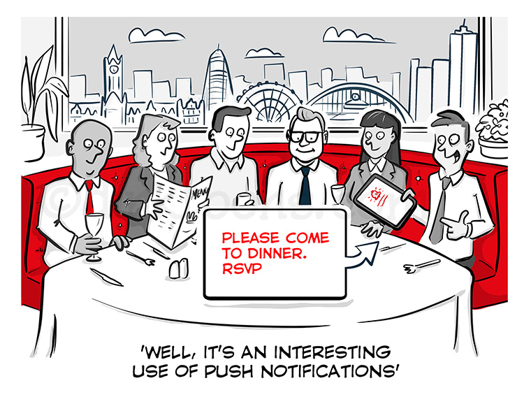 Business invite cartoon