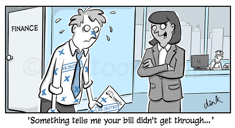 rejected bill- intapp business cartoon