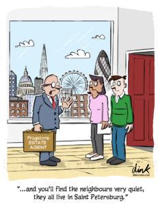 London cartoon estate agents