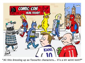Comic con Cosplay cartoon