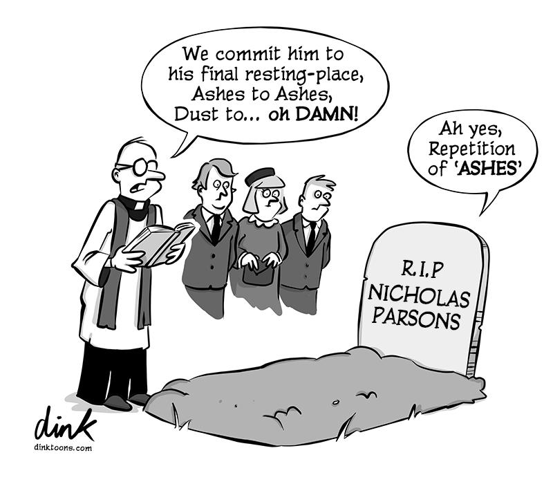 Nicholas Parsons cartoon