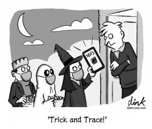 Trick and Trace - Halloween cartoon by Chris Dink Williams