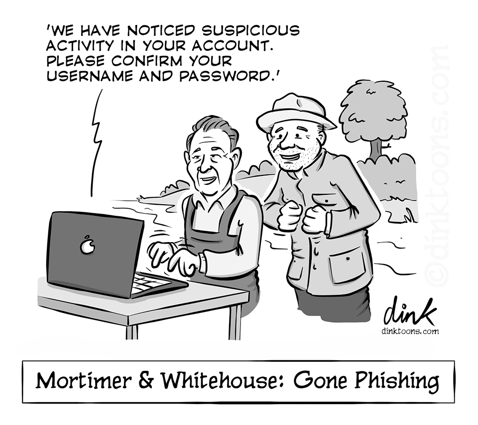 mortimer and whitehouse gone fishing cartoon