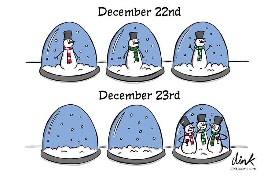 snowmen Christmas lockdown bubble