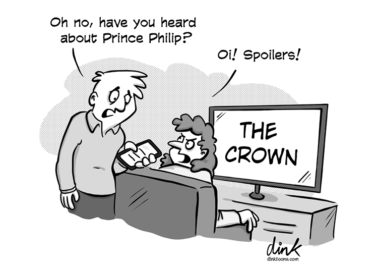 Prince Philip The Crown cartoon